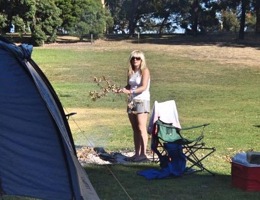Sarah camping circa 2008