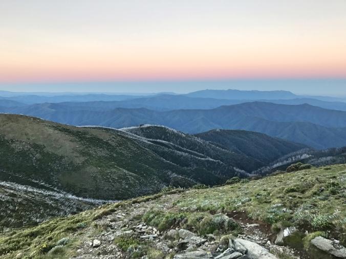 Sunrise at Mt Feathertop