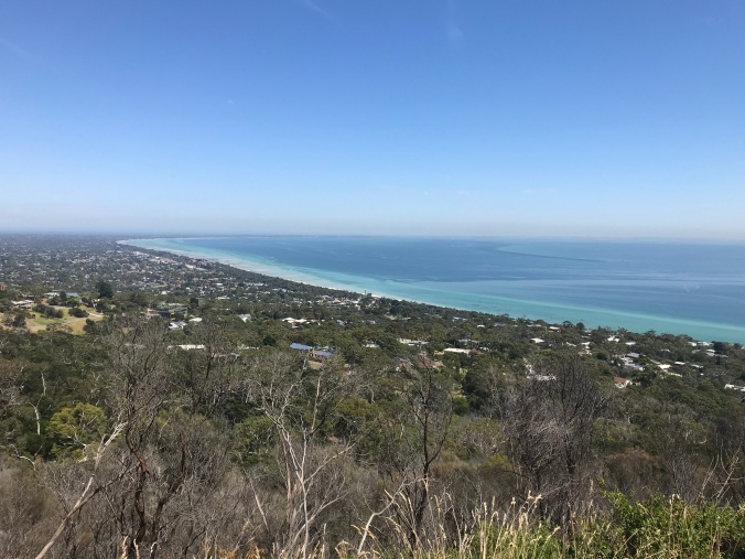 Port Phillip Bay, shot from Arthurs Seat; Two Bays Trail.